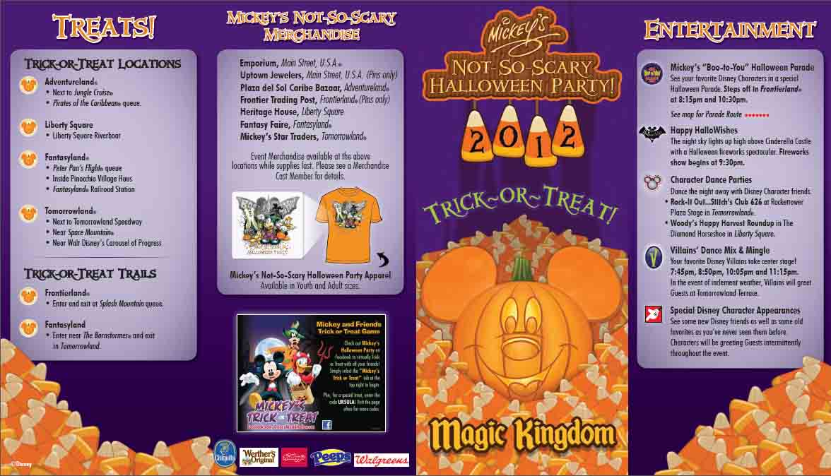 Mickey's Not So Scary Halloween Party Park Map Photos | WDW ...