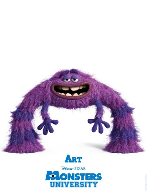 Monsters University Character Posters introduce you to new monster characters