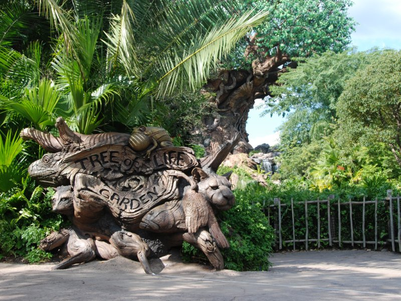 With the 15th anniversary of Disney's Animal Kingdom coming up next week (on April 22), we thought we'd share this visual treat with you – a look at the early construction of the park's Tree of Life.