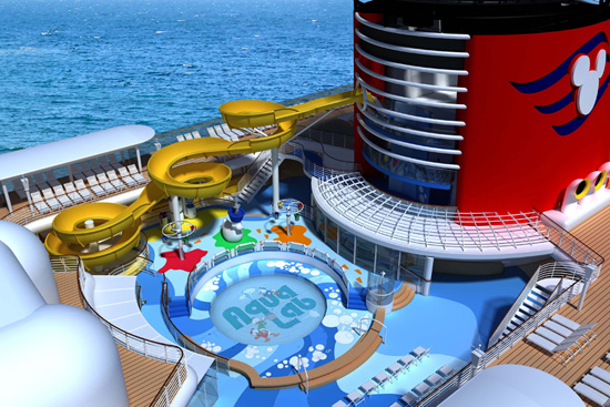 A Revealing Look at the AquaDunk Thrill Slide on the Disney Magic with Disney Imagineer Peter Ricci