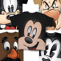 Disney expandes the assortment of Theme Park t-shirts featuring various Disney and Pixar characters at Disneyland and Walt Disney World resorts