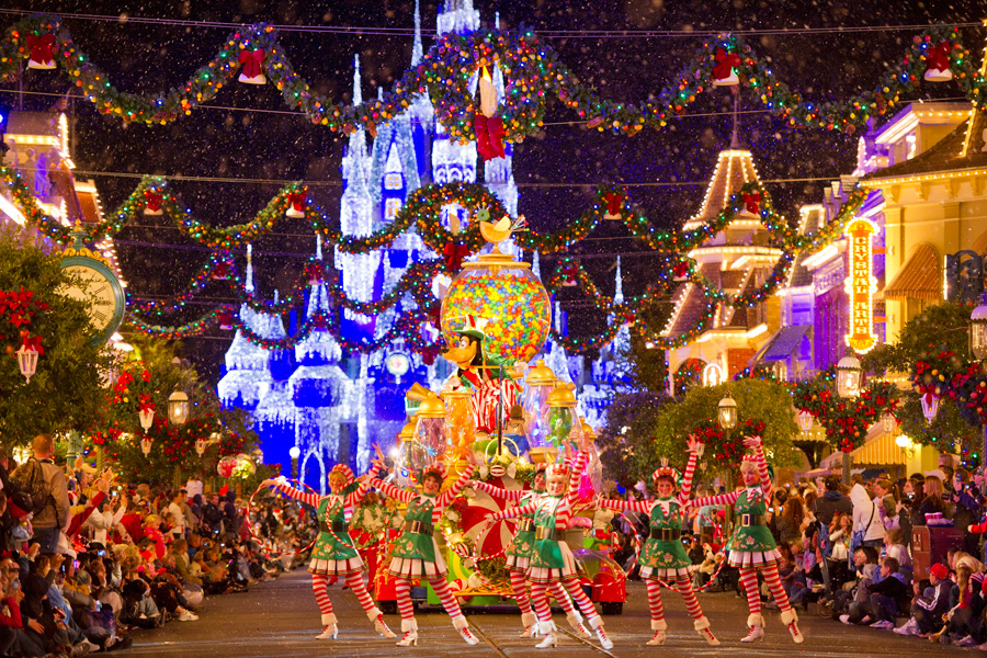 mouse goofy and dozens of their other disney pals help ring in the festive spirit of the holiday season during mickeys very merry christmas party at